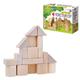 Конструктор деревянный, 17 элементов, неокрашенный, «Десятое королевство»