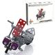 Конструктор металлический «Мотоцикл», с подвижными деталями, 111 элементов, «Десятое королевство»