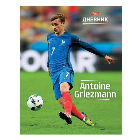 Дневник для 1-11 классов, твердый, ламинированная обложка, HATBER, «Футбол — Антуан Гризманн»