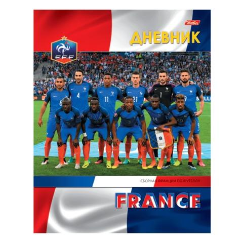 Дневник для 1-11 классов, твердый, ламинированная обложка, HATBER, «Футбол — сборная Франции»