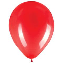 """Шары воздушные ZIPPY (ЗИППИ) 12"""" (30 см), комплект 50 шт., красные, в пакете"""