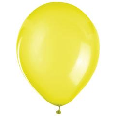 """Шары воздушные ZIPPY (ЗИППИ) 12"""" (30 см), комплект 50 шт., желтые, в пакете"""