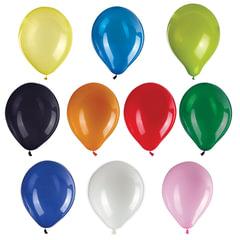 """Шары воздушные ZIPPY (ЗИППИ) 12"""" (30 см), комплект 50 шт., ассорти 10 цветов, в пакете"""