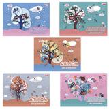 Альбом для рисования, 12 л., HATBER, обложка мелованный картон, 100 г/<wbr/>м<sup>2</sup>, «Совушки», 12А4В