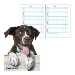 Дневник для 1-4 классов, твердый, BRAUBERG, блестки, «Забавный щенок»