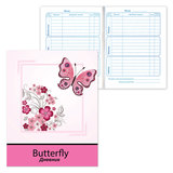 Дневник для 1-4 классов, твердый, BRAUBERG (БРАУБЕРГ), ламинированная обложка, «Бабочки»