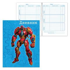 Дневник для 1-4 классов, твердый, BRAUBERG, ламинированная обложка, «Солдаты вселенной»