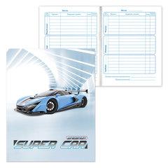 Дневник для 1-4 классов, твердый, BRAUBERG, ламинированная обложка, «Супер авто»