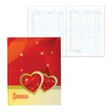 Дневник для 5-11 классов, твердый, BRAUBERG (БРАУБЕРГ), блестки, «Два сердца»