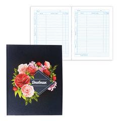 Дневник для 5-11 классов, твердый, BRAUBERG, блестки, «Прекрасные цветы на черном»