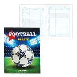 Дневник для 5-11 классов, твердый, BRAUBERG (БРАУБЕРГ), выборочный лак, «Футбол это жизнь»