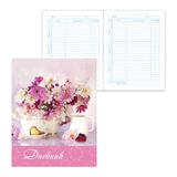 Дневник для 5-11 классов, твердый, BRAUBERG, ламинированная обложка, «Нежные цветы 2»