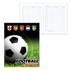 Дневник для 5-11 классов, твердый, BRAUBERG, ламинированная обложка, «Мировой футбол»