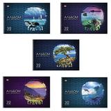Альбом для рисования, 32 л., HATBER VK, спираль, обложка мелованный картон, 100 г/<wbr/>м<sup>2</sup>, «Путешествия» (5 видов)