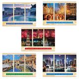 Альбом для рисования, 40 л., HATBER VK, обложка мелованный картон, 100 г/<wbr/>м<sup>2</sup>, «Города мира» (5 видов), 40А4С