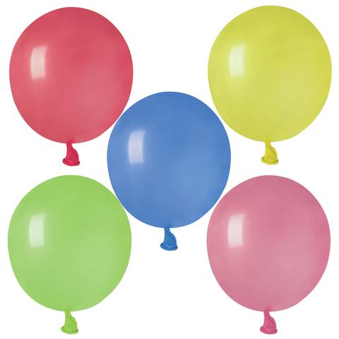 """Шары воздушные 2"""" (5 см) """"Water bombs"""" (водяные бомбочки), комплект 100 шт., 12 пастельных цветов, в пакете"""