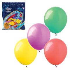"""Шары воздушные 7"""" (18 см), комплект 100 шт., 12 пастельных цветов, в пакете"""