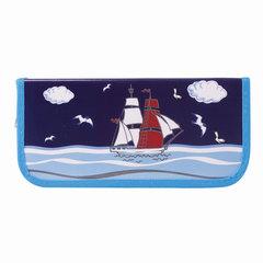 Пенал 1 отделение BRAUBERG, для учеников начальной школы, «Корабль», 19×9 см