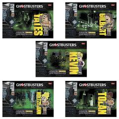 Альбом для рисования, 16 л., HATBER, обложка мелованный картон, 100 г/<wbr/>м<sup>2</sup>, «Охотники за привидениями» (5 видов), 16А4В