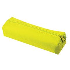 Пенал-тубус ПИФАГОР на молнии, текстиль, желтый, 20×5 см