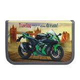 Пенал 1 отделение, для учеников начальной школы, «Зеленый мотоцикл», 19×11 см