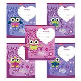 Тетрадь 12 л., ERICH KRAUSE, клетка, мелованный картон обложка, «Lucky Owl»