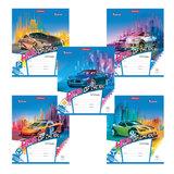 Тетрадь 12 л., ERICH KRAUSE, клетка, мелованный картон обложка, «Автосияние»