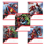 Тетрадь 12 л., ERICH KRAUSE, клетка, мелованный картон обложка, «Альянс Мстители»