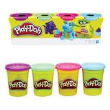 Пластилин PLAY-DOH Hasbro, 4 цвета, 546 г, баночки в коробке