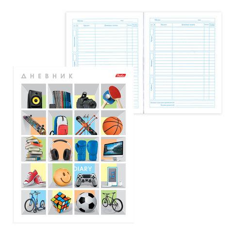 """Дневник для 1-11 классов, интегральный, ламинированная обложка, HATBER, """"FindYourPlace"""", 40ДL5В 15645"""