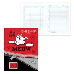 Дневник для 5-11 классов, твердый, ламинированная обложка, HATBER, «Кот Саймона», 48ДТ5В 15971
