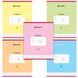 Тетрадь 12 л. BRAUBERG, клетка, обложка мелованный картон, «Пастельная», 5 видов