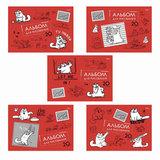Альбом для рисования 20 л., HATBER, обложка мелованный картон, 100 г/<wbr/>м<sup>2</sup>, «Кот Саймона» (SC), 20А4B