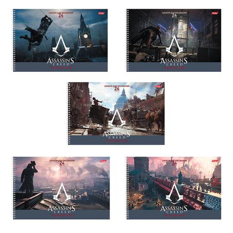 """Альбом для рисования, 24 л., HATBER, спираль, обложка мелованный картон, 100 г/м2, """"Assassin's Creed"""", 24А4Всп"""