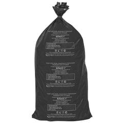 Мешки для мусора медицинские, комплект 20 шт., класс Г (черные), 100 л, 60×100 см, 15 мкм, АКВИКОМП