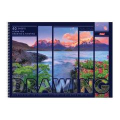 Альбом для рисования, А3, 40 л., HATBER, спираль, жесткая подложка, 100 г/<wbr/>м<sup>2</sup>, «Природа», 40А3Всп 16840