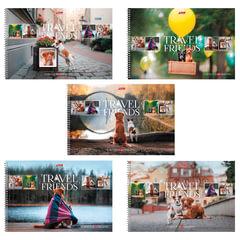 Альбом для рисования, 48 л., HATBER, спираль, обложка мелованный картон, 100 г/<wbr/>м, «Путешествие друзей-1», 48А4Всп