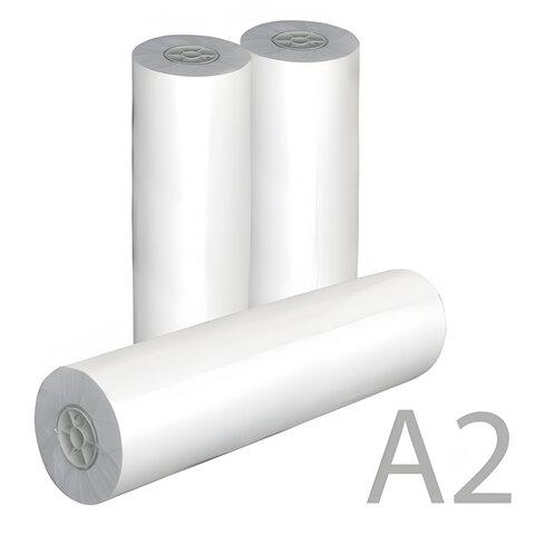 Рулон для плоттера, 420 мм х 175 м х втулка 76 мм, 80 г/<wbr/>м<sup>2</sup>, белизна CIE 162%, диаметр 170 мм, STARLESS