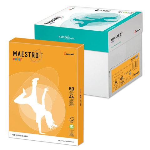Бумага MAESTRO color А4, 80 г/<wbr/>м<sup>2</sup>, 500 л., умеренно-интенсивная (тренд), «старое золото» AG10