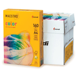 Бумага MAESTRO color А4, 160 г/<wbr/>м<sup>2</sup>, 250 л., интенсивная солнечно-желтая SY40