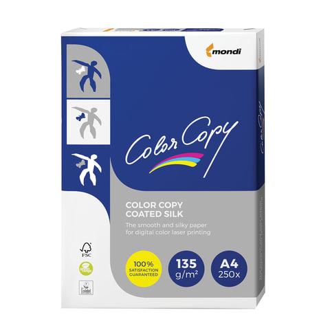 Бумага COLOR COPY SILK, мелованная матовая, А4, 135 г/м2, 250 л., для полноцветной лазерной печати, А++, Австрия, 138% (CIE)