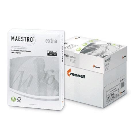 Бумага MAESTRO EXTRA, А4, 250 г/<wbr/>м<sup>2</sup>, 150 л., класс «А+», Австрия, белизна 169% (CIE)
