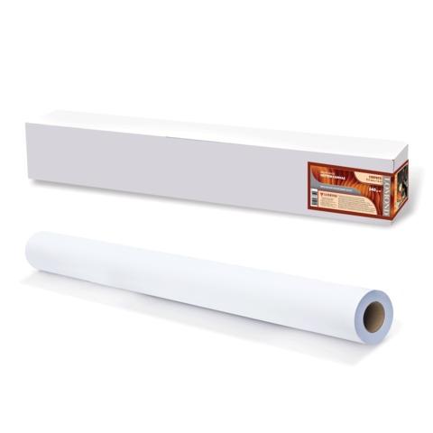 Рулон для плоттера (холст), 914 мм х 15 м х втулка 50,8 мм, 340 г/м2, ярко-белый, матовое, хлопковое покрытие, LOMOND,1207072