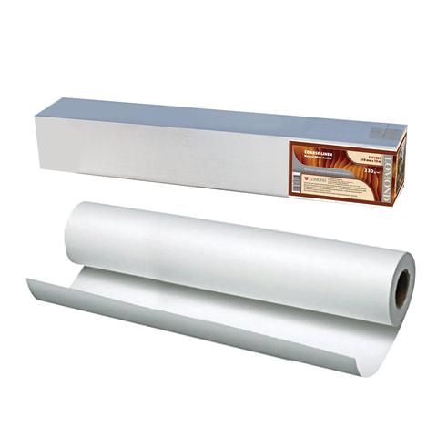 Рулон для плоттера (арт-бумага), 610 мм х 12,3 м х втулка 76 мм, 230 г/<wbr/>м<sup>2</sup>, натуральный белый, фактура льняная, LOMOND, 1211321
