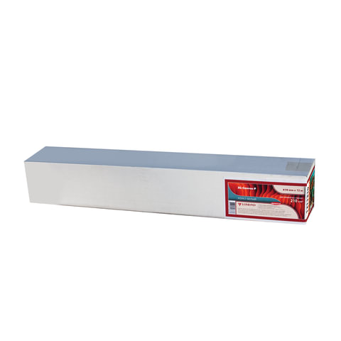 Рулон для плоттера (арт-бумага), 610 мм х 12,3 м х втулка 76 мм, 210 г/м2, натуральный белый, фактура льняная, LOMOND, 1211310