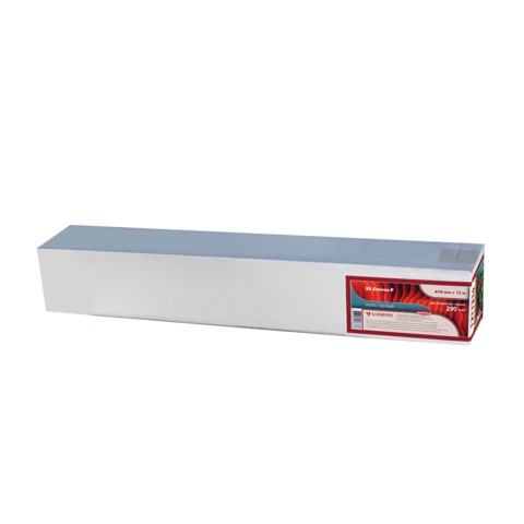 Рулон для плоттера (арт-бумага), 610 мм х 12,3 м х втулка 76 мм, 290 г/<wbr/>м<sup>2</sup>, ярко-белая, бархатистая фактура, LOMOND, 1211130