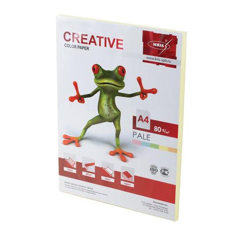 Бумага CREATIVE color (Креатив), А4, 80 г/<wbr/>м<sup>2</sup>, 100 л., пастель желтая