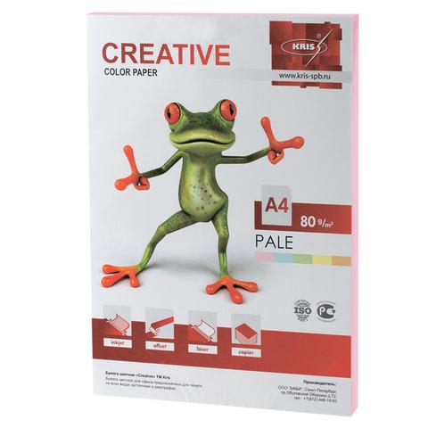 Бумага CREATIVE color (Креатив), А4, 80 г/м2, 100 л., пастель розовая