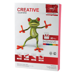 Бумага CREATIVE color (Креатив), А4, 80 г/<wbr/>м<sup>2</sup>, 100 л., интенсив розовая