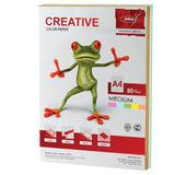 Бумага CREATIVE color (Креатив), А4, 80 г/<wbr/>м<sup>2</sup>, 100 л. (5 цв.х20 л.), цветная медиум
